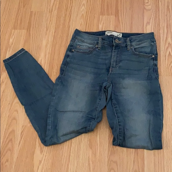 Blue skinny jeans from garage